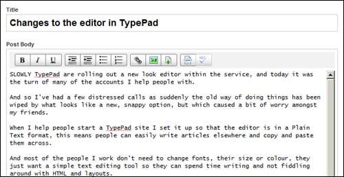 Typepad-editor