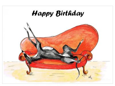 Happy birthday galgo sofa 400