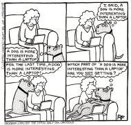 Dog v laptop cartoon 190