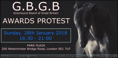 GBGB awards protest 2018 poster 400