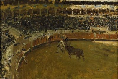 Bullfighting painting 400