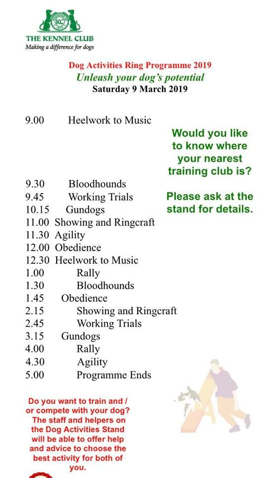 Crufts timetable 400