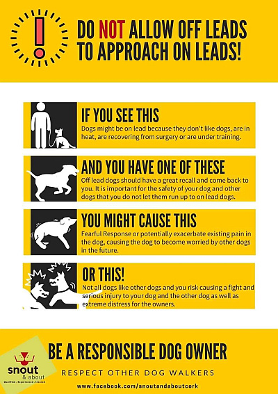 Do not allow dogs off leads 400