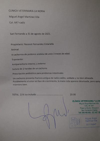 Malaga pups invoice 400